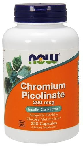 NOW Foods Chromium Picolinate 200mcg 250caps