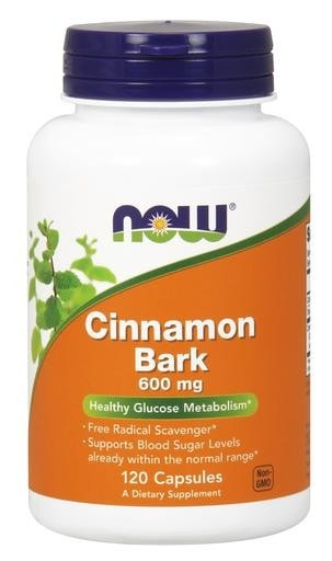 NOW Foods Cinnamon Bark 600mg 120caps - AdvantageSupplements.com