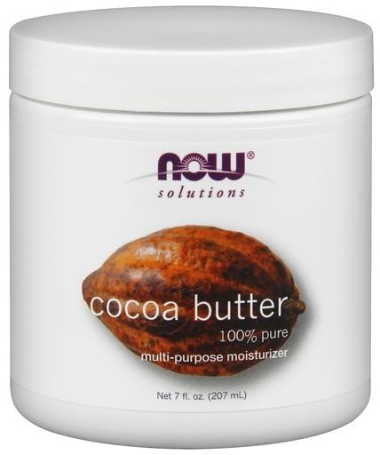 NOW Foods 100% Pure Cocoa Butter 7oz - AdvantageSupplements.com