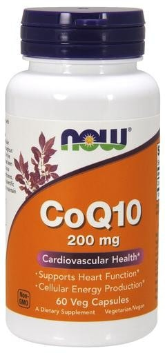 NOW Foods CoQ10 200mg 60 Veggie Caps