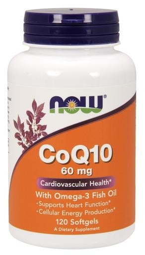NOW Foods CoQ10 60mg with Omega-3 Fish Oil 120softgels - AdvantageSupplements.com