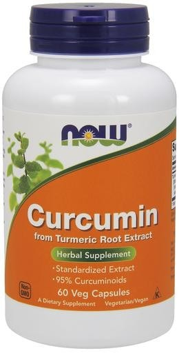 NOW Foods Curcumin (from Turmeric Root Extract) 60 Veggie Caps - AdvantageSupplements.com