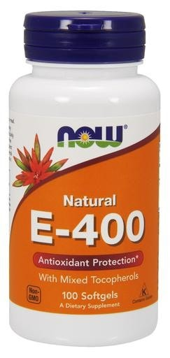 NOW Foods Vitamin E-400IU 100softgels - AdvantageSupplements.com