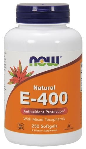 NOW Foods Natural E-400 Antioxidant Protection 250softgels - AdvantageSupplements.com