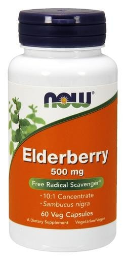 NOW Foods Elderberry 500mg 60 Veggie Caps - AdvantageSupplements.com