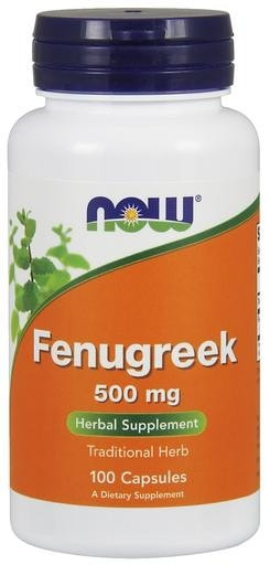 NOW Foods Fenugreek 500mg 100 Veggie Caps