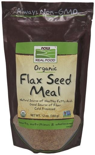 NOW Foods Organic Flax Seed Meal 12oz (340g) - AdvantageSupplements.com