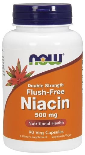 NOW Foods Flush Free Niacin 500mg 90 Veggie Caps - AdvantageSupplements.com
