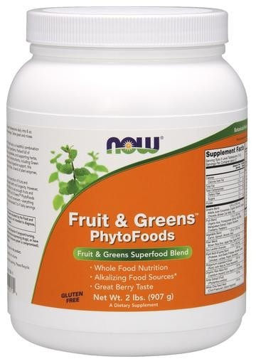NOW Foods Fruit & Greens Phytofoods 2lb - AdvantageSupplements.com
