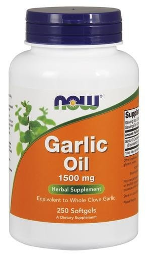 NOW Foods Garlic Oil 1500mg 250softgels - AdvantageSupplements.com