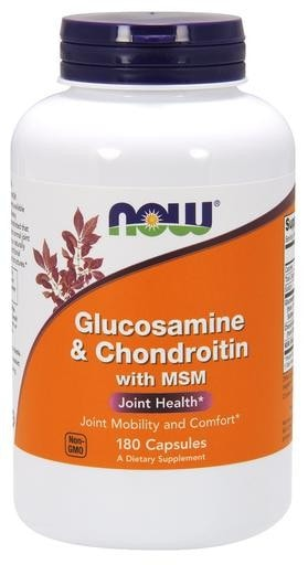 NOW Foods Glucosamine & Chondroitin with MSM 180caps - AdvantageSupplements.com
