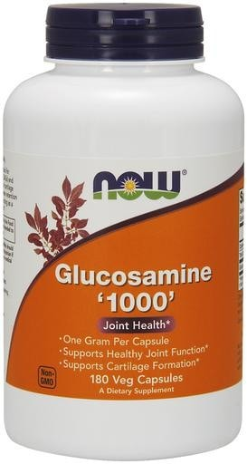 NOW Foods Glucosamine 1000mg 180 Veggie Caps - AdvantageSupplements.com