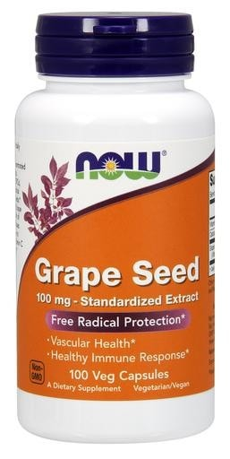 NOW Foods Grape Seed 100mg 100 Vcaps - AdvantageSupplements.com