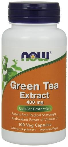 NOW Foods Green Tea Extract 400mg 100 Veggie Caps - AdvantageSupplements.com