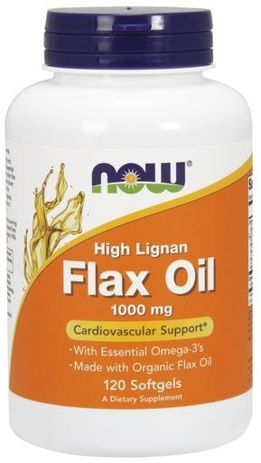 NOW Foods High Lignan Flax Oil 1000mg 120softgels