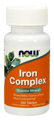 NOW Foods Iron Complex 100tabs - AdvantageSupplements.com