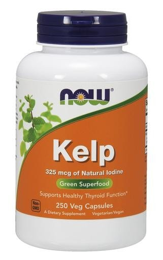 NOW Foods Kelp 325mcg 250 Veggie Caps - AdvantageSupplements.com