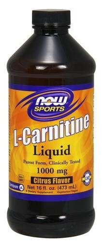 NOW Foods L-Carnitine Liquid 1000mg 16 fl. oz. - AdvantageSupplements.com