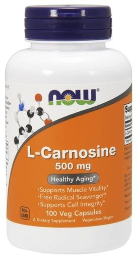 NOW Foods L-Carnosine 500mg 100 Veggie Caps - AdvantageSupplements.com