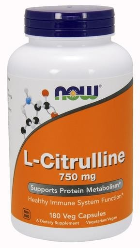 NOW Foods L-Citrulline 750mg 180caps - AdvantageSupplements.com