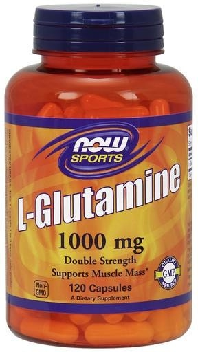 NOW Foods L-Glutamine 1000mg 120caps - AdvantageSupplements.com