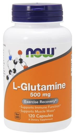NOW Foods L-Glutamine 500mg 120caps - AdvantageSupplements.com