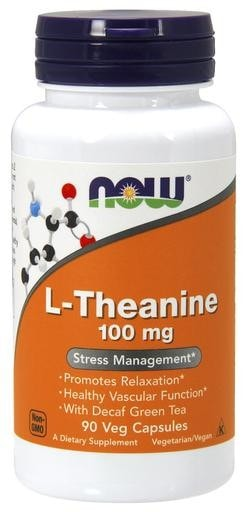 NOW Foods L-Theanine 100mg 90 Veggie Caps - AdvantageSupplements.com
