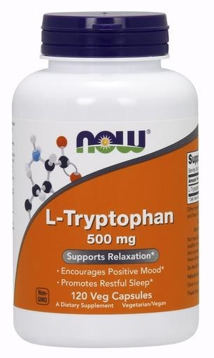 NOW Foods L-Tryptophan 500mg 120 Veggie Caps