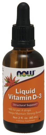 NOW Foods Liquid Vitamin D-3 2 fl. oz. - AdvantageSupplements.com