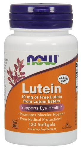 NOW Foods Lutein 10mg 120softgels - AdvantageSupplements.com