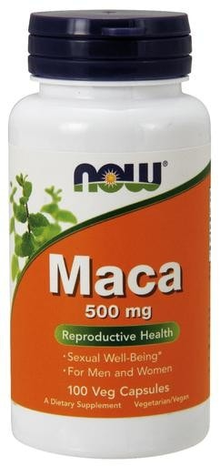 NOW Foods Maca 500mg 100 Veg. Capsules