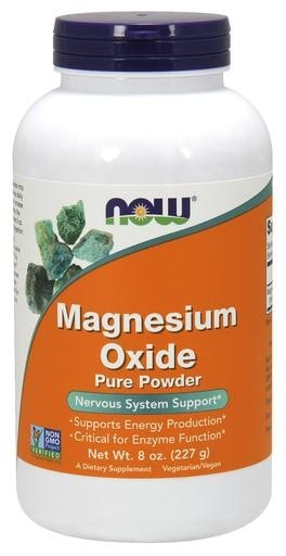 NOW Foods Magnesium Oxide Pure Powder 8oz (227g) - AdvantageSupplements.com