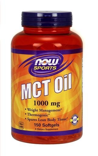 NOW Foods MCT Oil 1000mg 150softgels - AdvantageSupplements.com