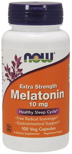 NOW Foods Melatonin 10mg 100 Veggie Caps - AdvantageSupplements.com