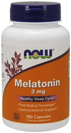NOW Foods Melatonin 3mg 180caps - AdvantageSupplements.com