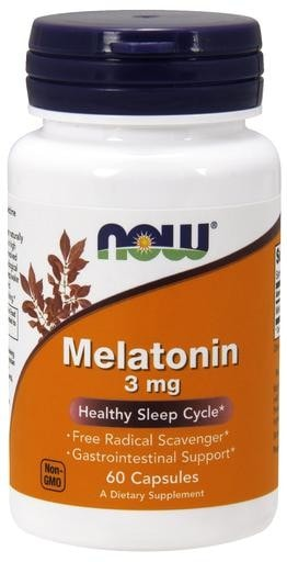 NOW Foods Melatonin 3mg 60caps