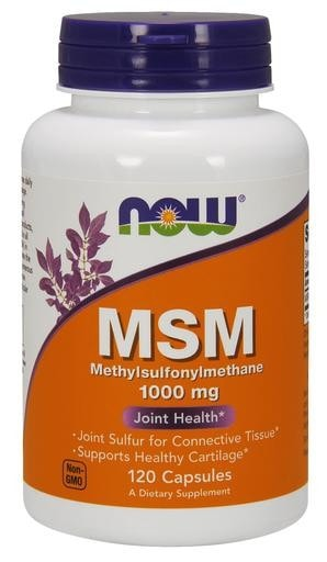 NOW Foods MSM 1000mg 120caps - AdvantageSupplements.com