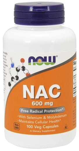 NOW Foods NAC 600mg 100 Veggie Caps - AdvantageSupplements.com