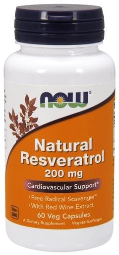 NOW Foods Natural Resveratrol 50mg 60 Veggie Caps - AdvantageSupplements.com