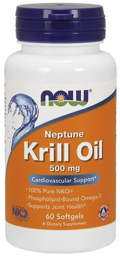 NOW Foods Neptune Krill Oil 500mg 60softgels - AdvantageSupplements.com