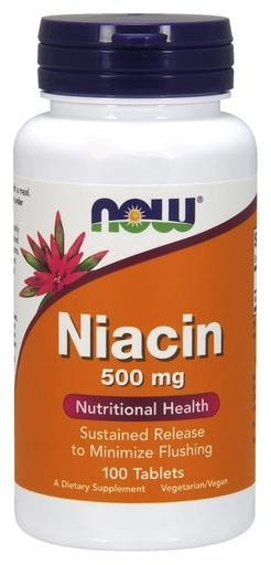 NOW Foods Niacin 500mg 100tabs - AdvantageSupplements.com