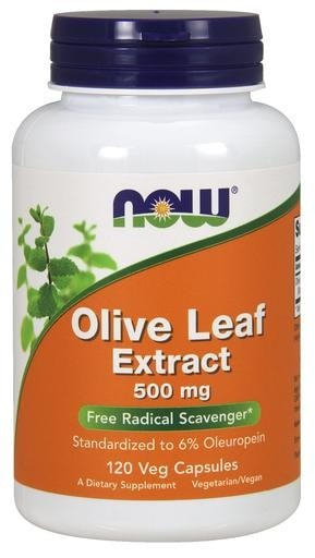 NOW Foods Olive Leaf Extract 500mg 120 Veggie Caps