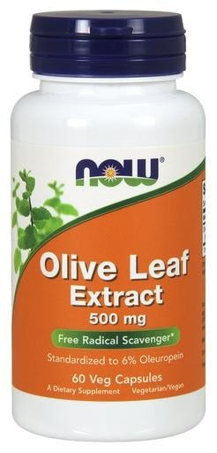 NOW Foods Olive Leaf Extract 500mg 60 Veggie Caps