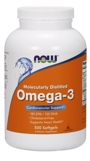 NOW Foods Omega-3 500softgels - AdvantageSupplements.com