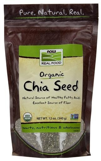NOW Foods Oraganic White Chia Seed 1lb (454g) - AdvantageSupplements.com