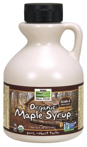 NOW Foods Organic Maple Syrup Grade A (Dark Color) 16 fl. oz. - AdvantageSupplements.com