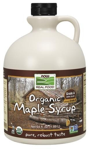 NOW Foods Organic Maple Syrup Grade A 64oz - AdvantageSupplements.com