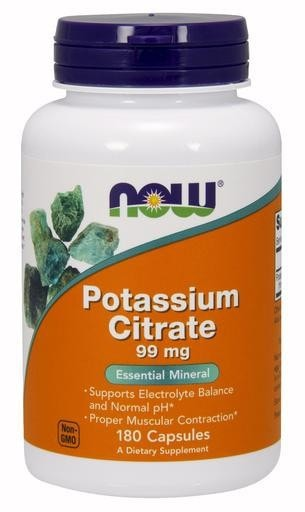 NOW Foods Potassium Citrate 99mg 180caps - AdvantageSupplements.com