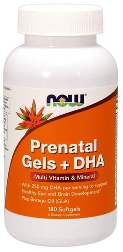 NOW Foods Prenatal Gels + DHA 180softgels - AdvantageSupplements.com