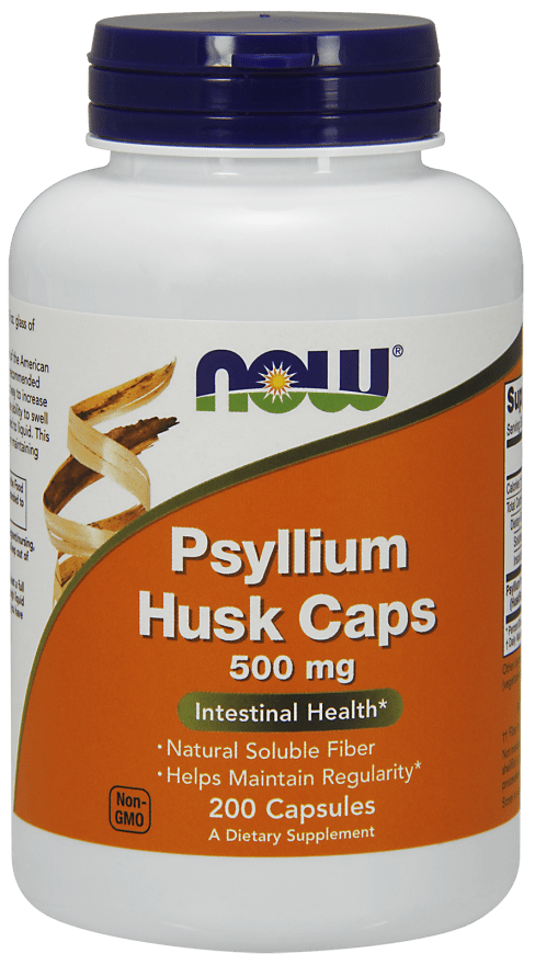 NOW Foods Psyllium Husk Caps 500mg 200 Veg. Capsules - AdvantageSupplements.com